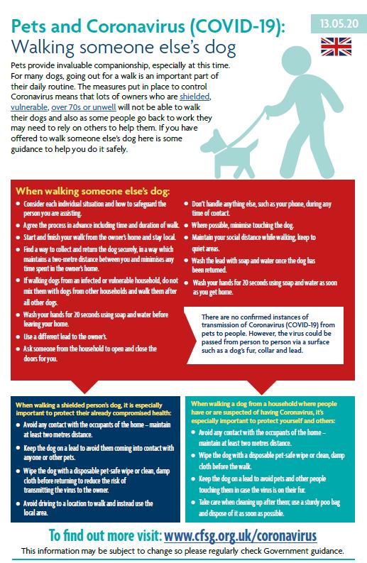 Dog Walking and Coronavirus